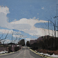 Acrylic painting April Road by Harry Stooshinoff