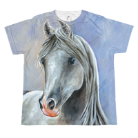 Arabian on Blue Youth T by Debbie Hart