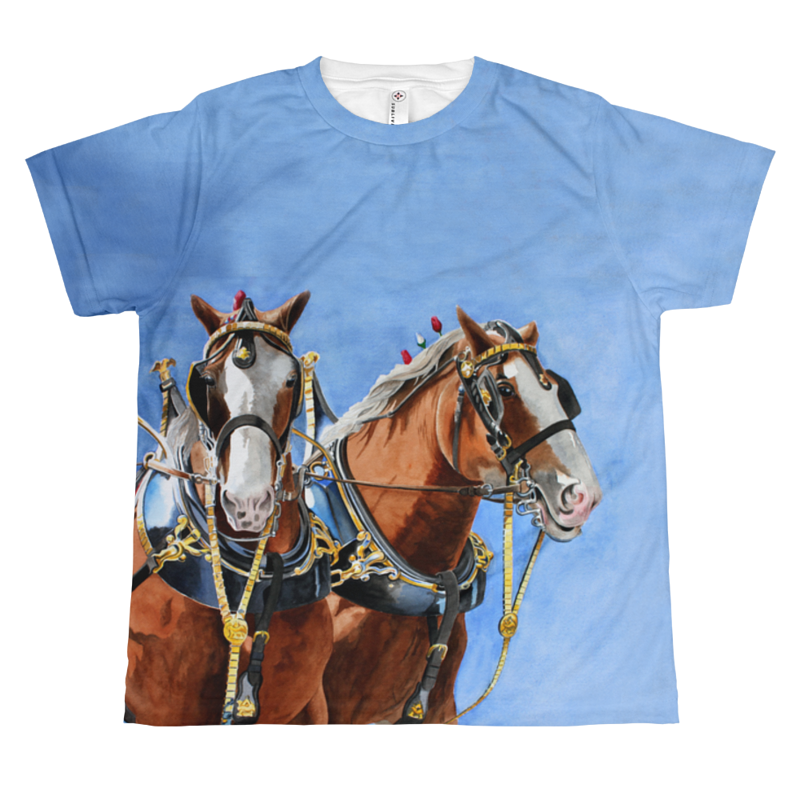 The Clydesdale Pair Youth T by Debbie Hart
