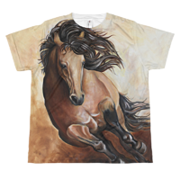 The Galloping Buckskin Youth T by Debbie Hart