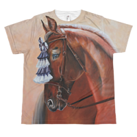 The Red Show Horse Youth T by Debbie Hart
