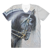 Print The Friesian Womens T by Debbie Hart
