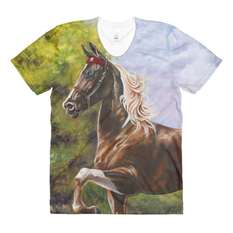 Print The Saddlebred Womens T by Debbie Hart