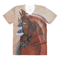 Print The Show Horse Womens T by Debbie Hart
