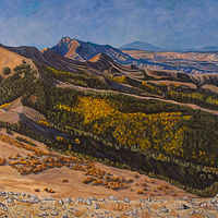 Acrylic painting Morning Over the Henry Mountains by Crystal Dipietro