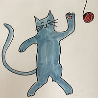happy cat illustrations by Michele Ridgeway
