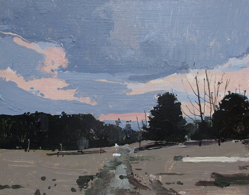 Acrylic painting Weather Station at Dusk by Harry Stooshinoff