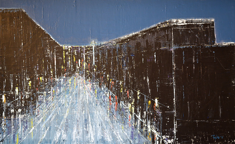 Acrylic painting Urban Composition No. 2 by David Tycho