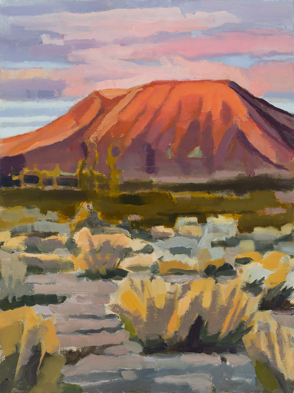 Oil painting Cinder Cone Glow by Shawn Demarest