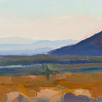 Oil painting Cinder Cone Sunset by Shawn Demarest