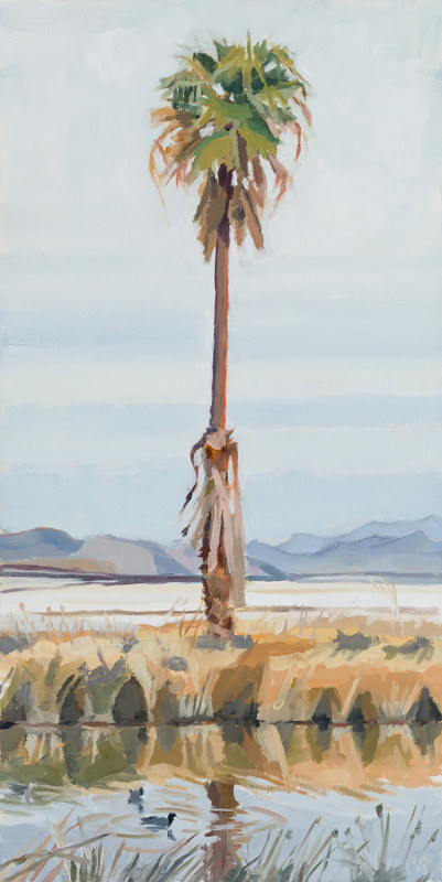 Oil painting One Palm by Shawn Demarest