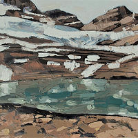 Oil painting Iceline 2 by Julie Gladstone