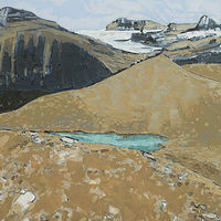 Oil painting Iceline 5 by Julie Gladstone