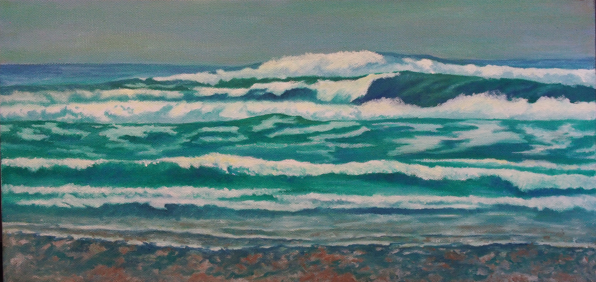 Oil painting Waves by Brent Ciccone