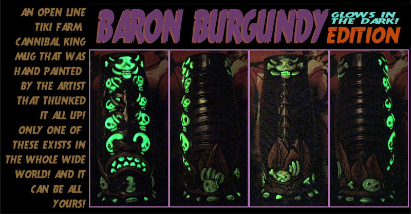 BARON BURGUNDY edition (UV ACTIVATED) by Kenneth M Ruzic