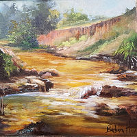 Oil painting Creek at the Deer Lease by Barbara Haviland