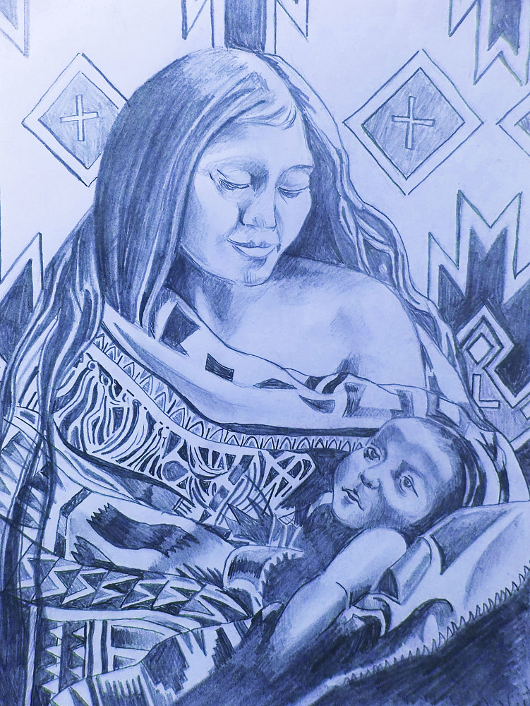 Navajo Mother and Child by John Keaton