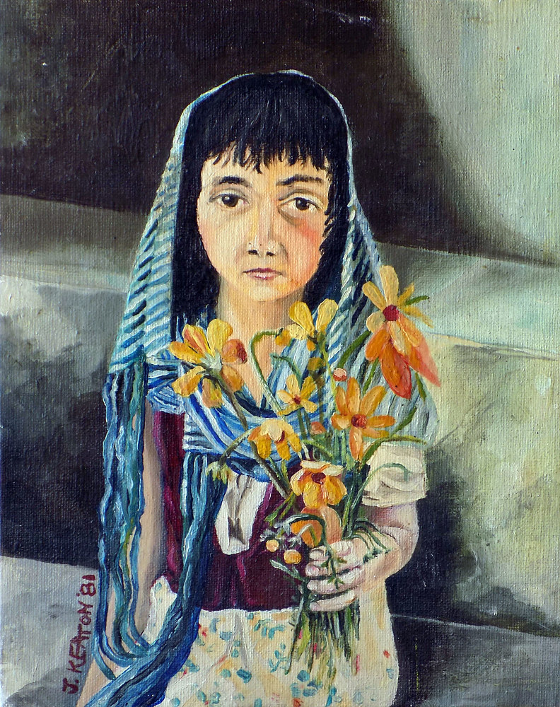 Mexican Flower Girl by John Keaton