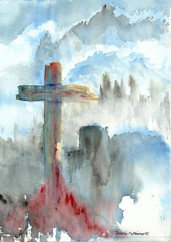"Print ""The Cross"" by Jeanne McMenimen"