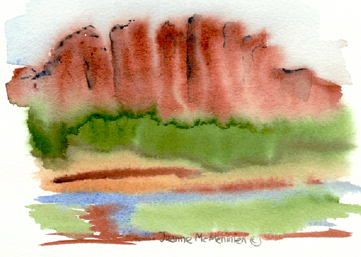 "Print ""Abstract of Northern Arizona"" by Jeanne Mcmenimen"