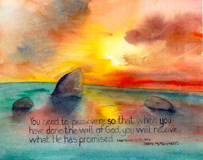 "Print ""To Persevere"" by Jeanne Mcmenimen"