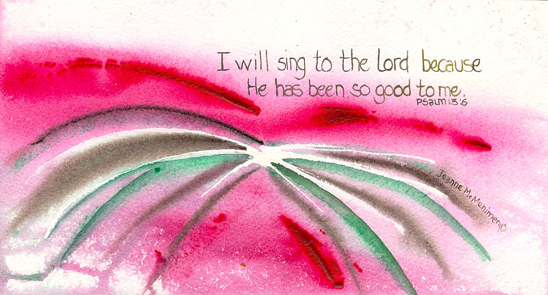Print I Will Sing by Jeanne McMenimen