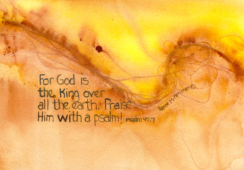 "Print ""God is the King"" by Jeanne McMenimen"
