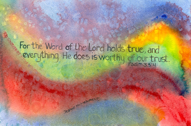 "Print ""For the Word"" by Jeanne McMenimen"