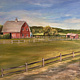 Oil painting Harbes Farm by June Long-schuman