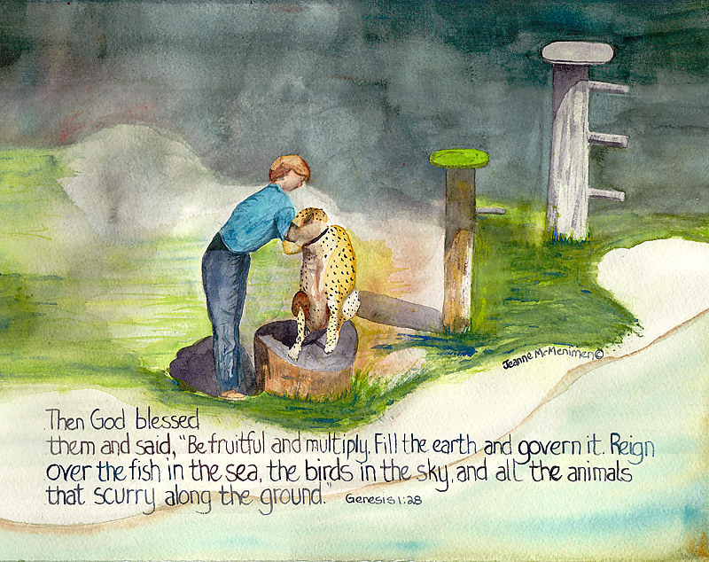 "Print ""Then God Blessed Them"" by Jeanne Mcmenimen"