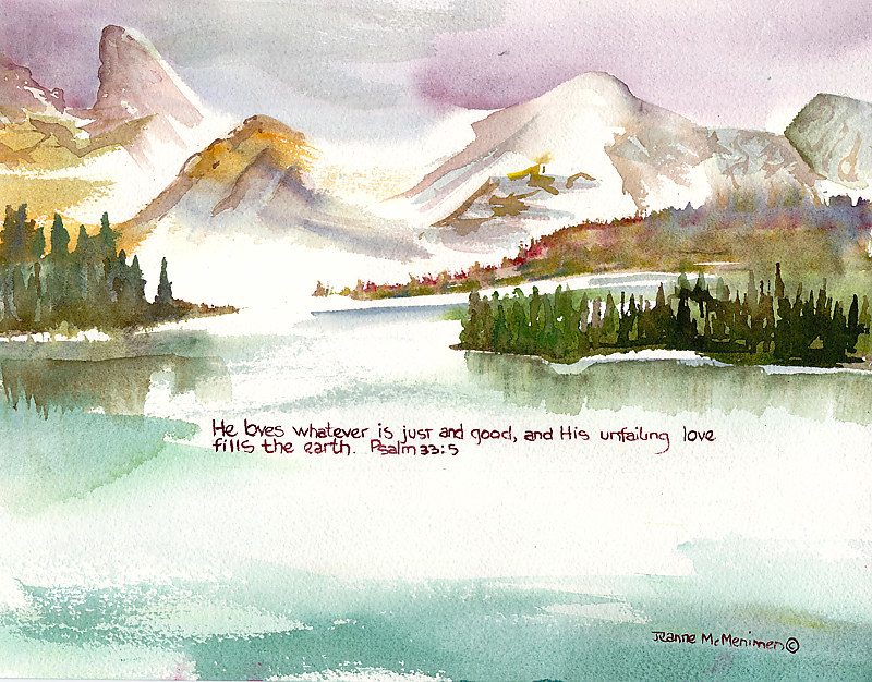 "Print ""He Loves"" by Jeanne Mcmenimen"