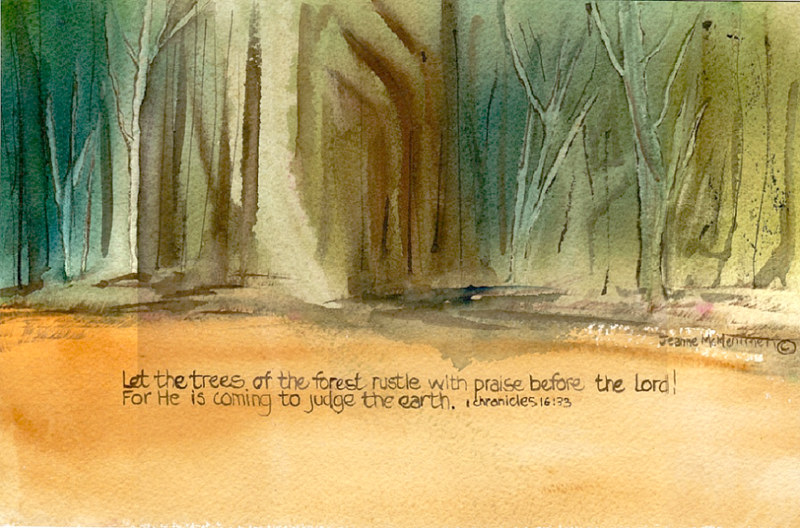 "Print ""Let the Trees"" by Jeanne McMenimen"