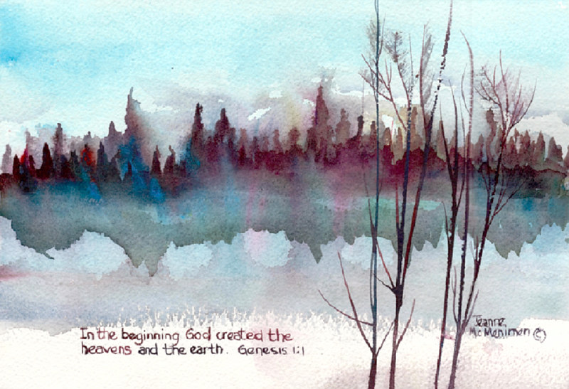 "Print ""In the Beginning"" by Jeanne Mcmenimen"