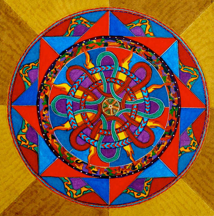 mandala-for-dan-and-phillippa by John Clinock