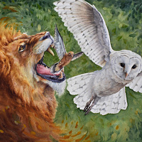 Painting Fierce Wisdom Roar by Lisa  Baechtle