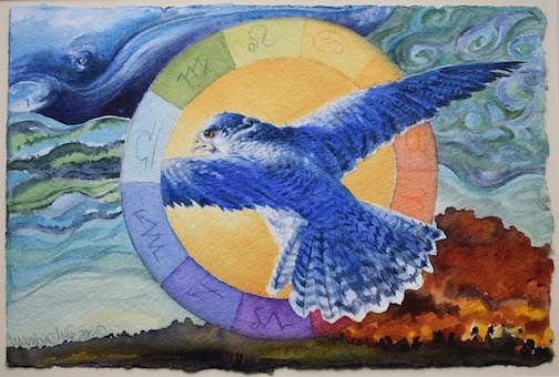 Watercolor Into the Void  by Lisa  Baechtle