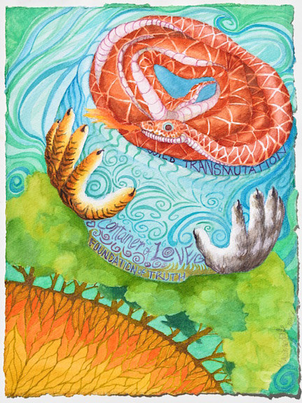 Watercolor Wild Transmutation by Lisa  Baechtle