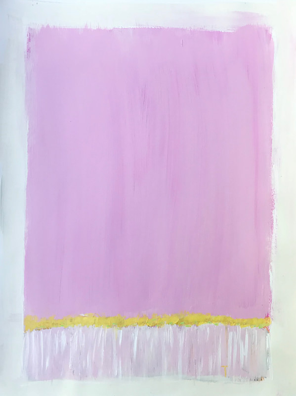 Acrylic painting Horizon in Pink I by Sarah Trundle
