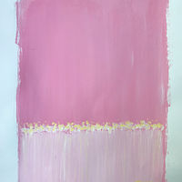 Acrylic painting Horizon in Pink II by Sarah Trundle