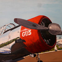 Acrylic painting Flight Line by Steve Latimer