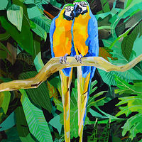 "Acrylic painting ""Love Birds"" by Jennifer Sparacino"