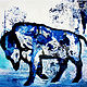 Acrylic painting Buffalo Blue- by Kathleen Macgregor