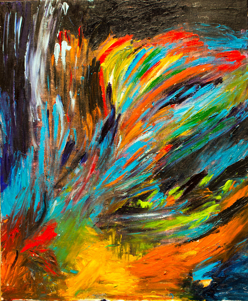 Painting Explosion by Nathalie Gribinski