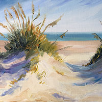 Oil painting Sand Dunes by Betty Ann  Medeiros