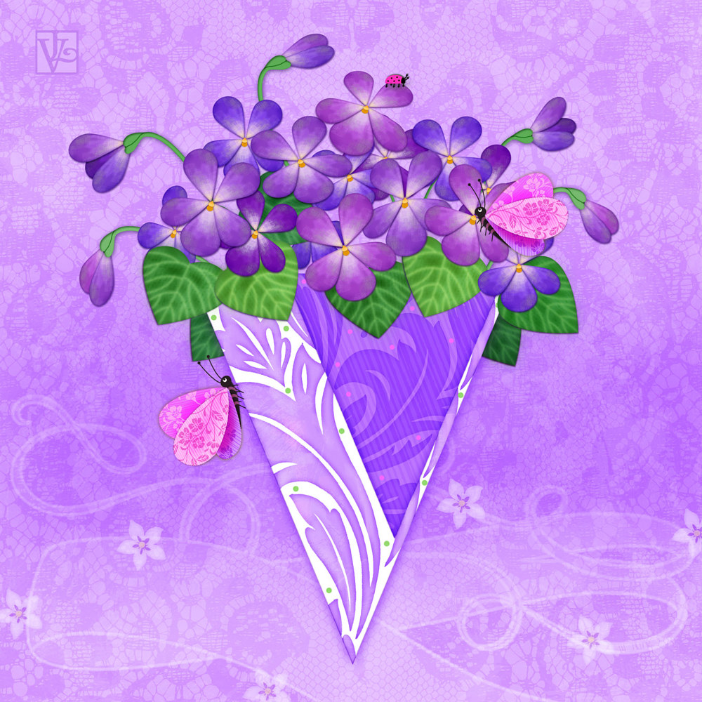 V IS FOR VIOLETS  by Valerie Lesiak