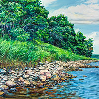 Oil painting Green Island by Michael McEwing