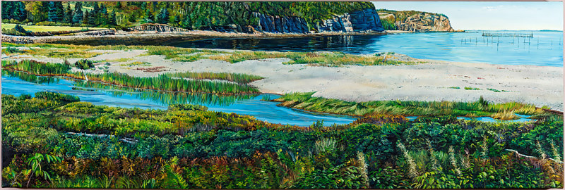 Oil painting Whale Cove by Michael McEwing