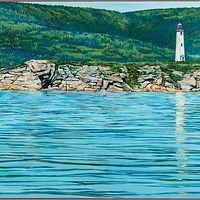 Oil painting Grindstone Island by Michael McEwing