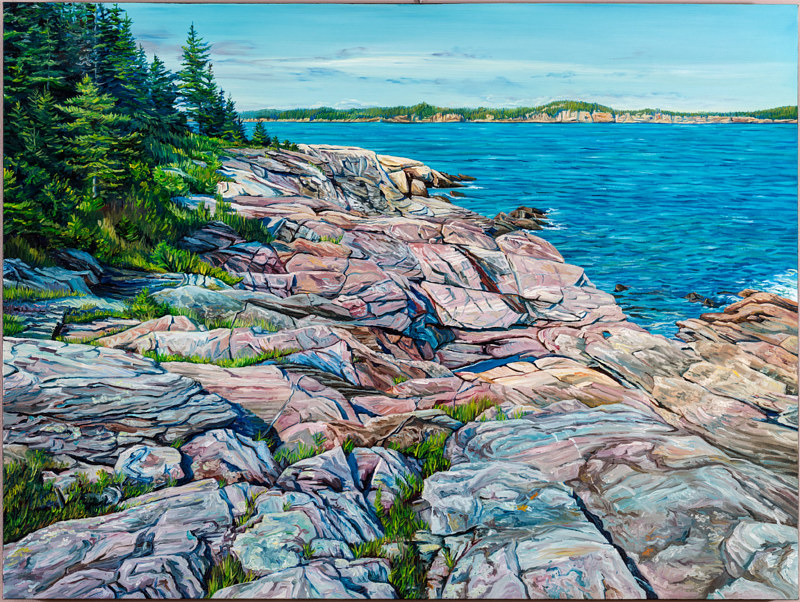 Oil painting Belding's Reef by Michael McEwing