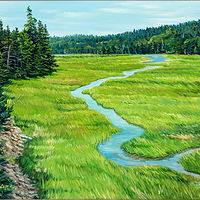 Oil painting Cape Enrage Marsh by Michael McEwing